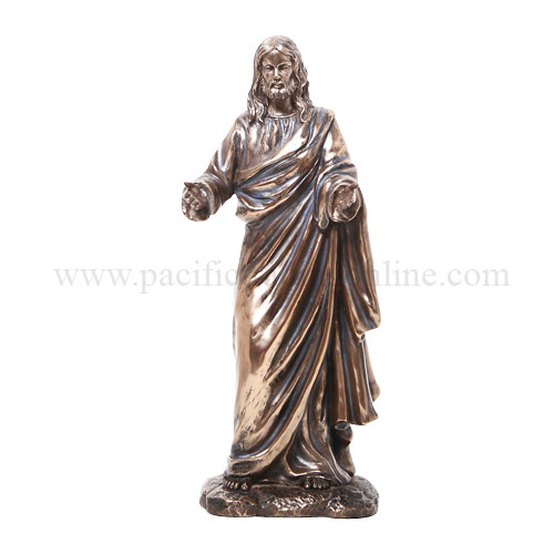 Lord Jesus Christ Welcoming All Figurine Statue Bronzelike 10 H Son Of Mary God